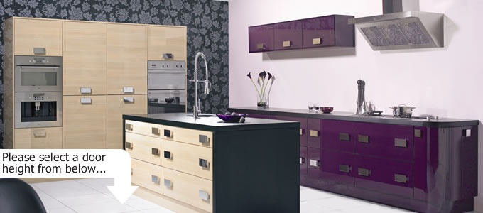 Purple High Gloss Kitchen Doors