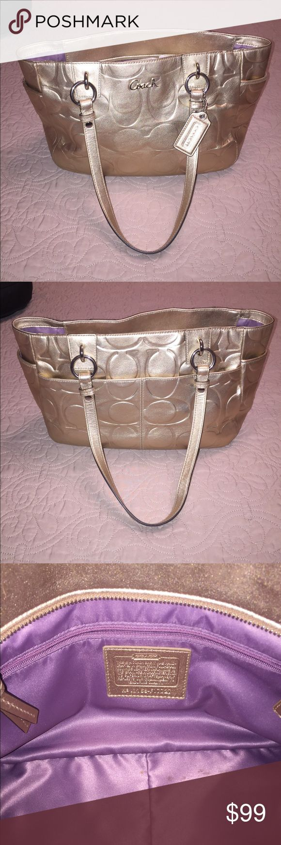 Coach purse Coach purse 8 wide 11 height. Very clean smoke free home . Too small used twice Coach Bags Satchels