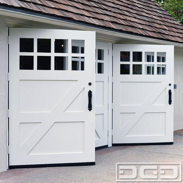 Double Door Garage Conversion Replace An Overhead Door With Pre Hung Double Panels Garage Door Design Garage Doors Garage Conversion