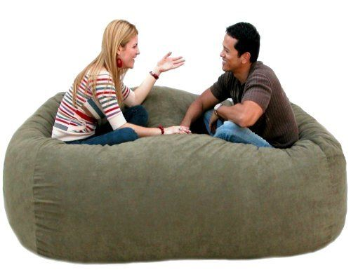 7 Feet Xx Large Olive Cozy Sac Foof Bean Bag Chair Love Seat By
