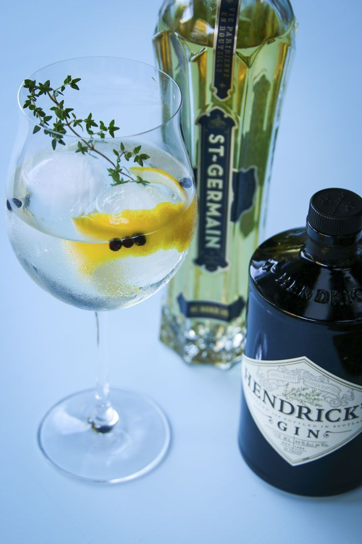 A Spanish-style fusion Gin and Tonic that pairs Scottish Hendrick's gin with French St. Germain Elderflower liqueur, lavender and orange bitters.
