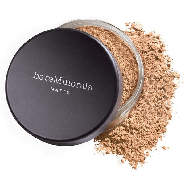 BareMinerals Bare Minerals Matte Foundation N30 Tan Broad Spectrum SPF... ($29) ❤ liked on Polyvore featuring beauty products, makeup, face makeup, foundation, mineral foundation, bare escentuals, long wear foundation, mineral powder foundation and long wearing foundation