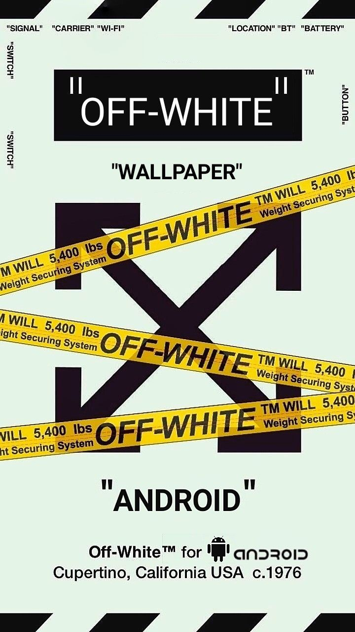 Off White Android Wallpaper Streetwear Wallpaper Edgy Wallpaper Hype Wallpaper