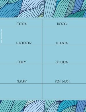 Free printable weekly calendar. Customize online before you print. Instant download.