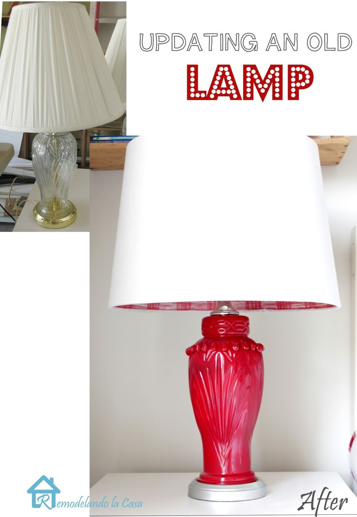 Remodelando la Casa: Thrifted Glass Lamps Transformed #glass #crystal #brass
