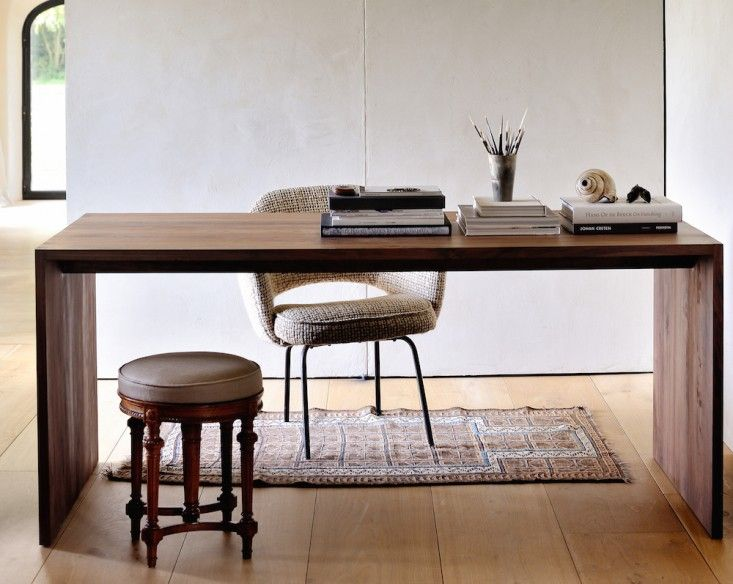Ethnicraft Walnut U Desk from Lekker Home | Remodelista