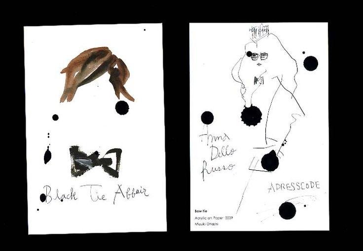 Annna Dello Russo: Black Tie Affair Anna Dello Russo(アンナ・デッロ・ルッソ)のファッション・フィルム「Black Tie Affair」。 私もボウタイが大好きでよく描きます。 以前作ったオリジナルポストカードを使って制作してみました。