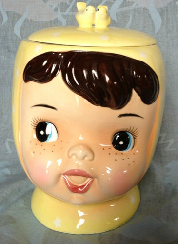 """Miss Cutie Pie"" Vintage Cookie Jar 1950'S"
