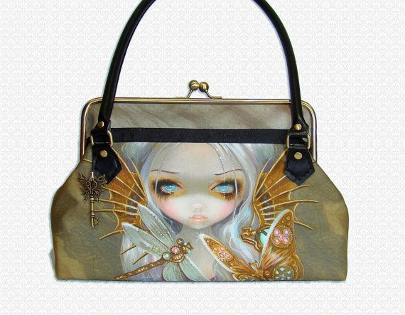 Custom Purse Steampunk Fairy with Dragonfly on Etsy, $227.00