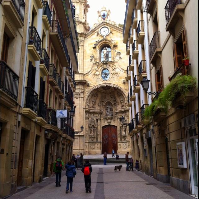 Streets of San Sebastian, Spain, April 2012.