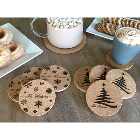 extraordinary inspiration drink coaster. Personalized Holiday Thick Cork Coasters  Set of 4 2 Amazing Designs 231 best images on Pinterest Bricolage Christmas