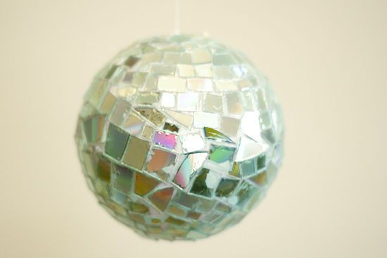 Disco Ball with CDs