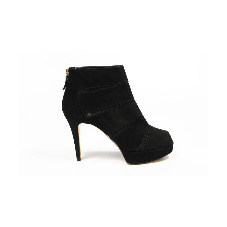 Sebastian Milano ladies ankle boot S4641 CAM SUEDE (Cervino) MC NERO