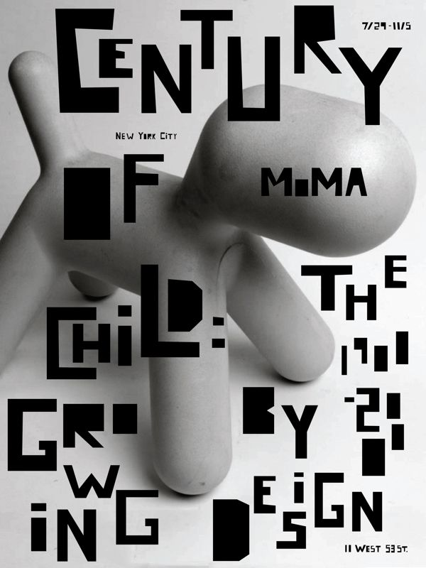 MoMA Exhibition Poster Series by Rachel Ake, via Behance