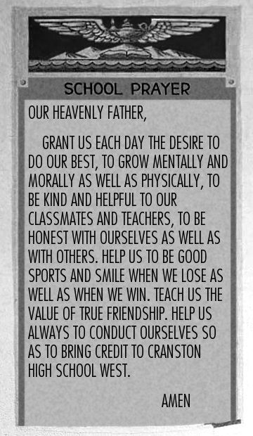 Engel V Vitale Newspaper Our heavenly father  the college hill independent
