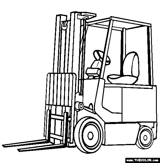 Free Online Coloring Pages - Trucks!
