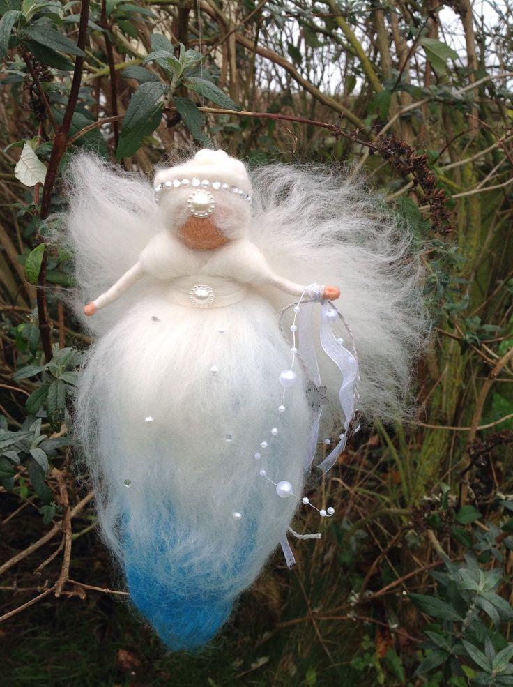 Felt Fairy, Snow Queen Fairy, Winter Fairy, Waldorf Fairy Doll, Christmas Fairy by WispsandWands on Etsy