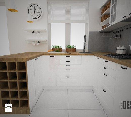 Aranżacje wnętrz - Kuchnia: Projekt kuchni i salonu - Kuchnia, styl skandynawski - OES architekci. Przeglądaj, dodawaj i zapisuj najlepsze zdjęcia, pomysły i inspiracje designerskie. W bazie mamy już prawie milion fotografii!