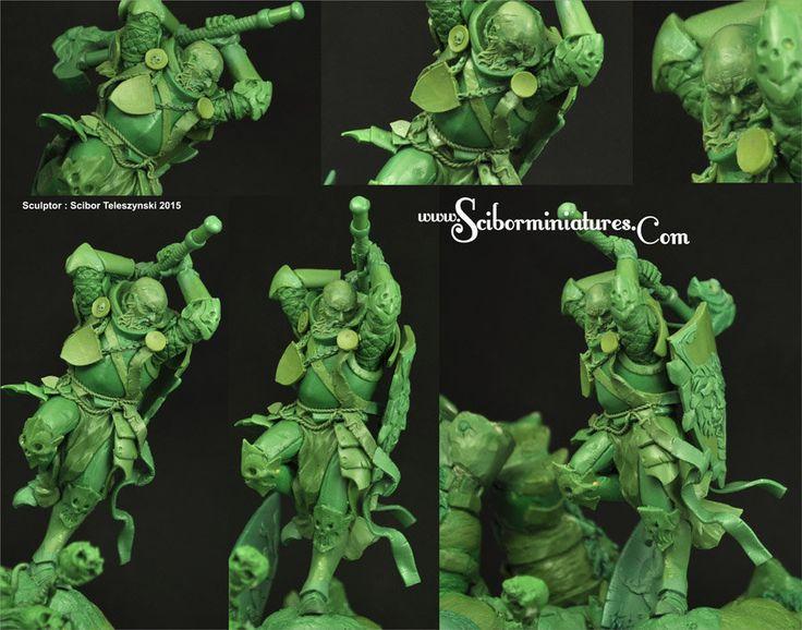 ArtStation - Fantasy Duel - traditional sculpture, Scibor Teleszynski