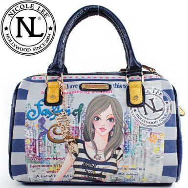 Click Here and Buy it On Amazon.com $59.99 Amazon.com: Nicole Lee Dolly Boston Bag Gitana Vintage Animal Print Handle Detailed Faux Croc Trim Handbag Hollywood Celebrity Classic Vintage Illustrative Print Tote Satchel Boston Handbag Purse in Navy: Clothing