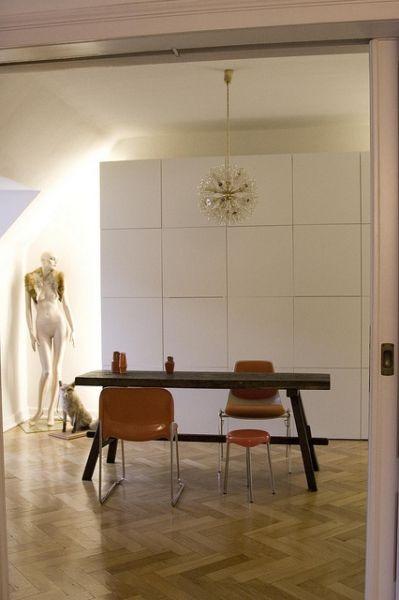 Besta unit from Ikea as room divider