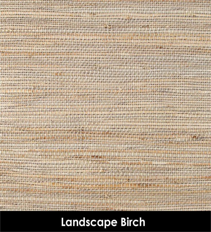 Landscape In Creamy White Birch Color Woven Grasses Jute