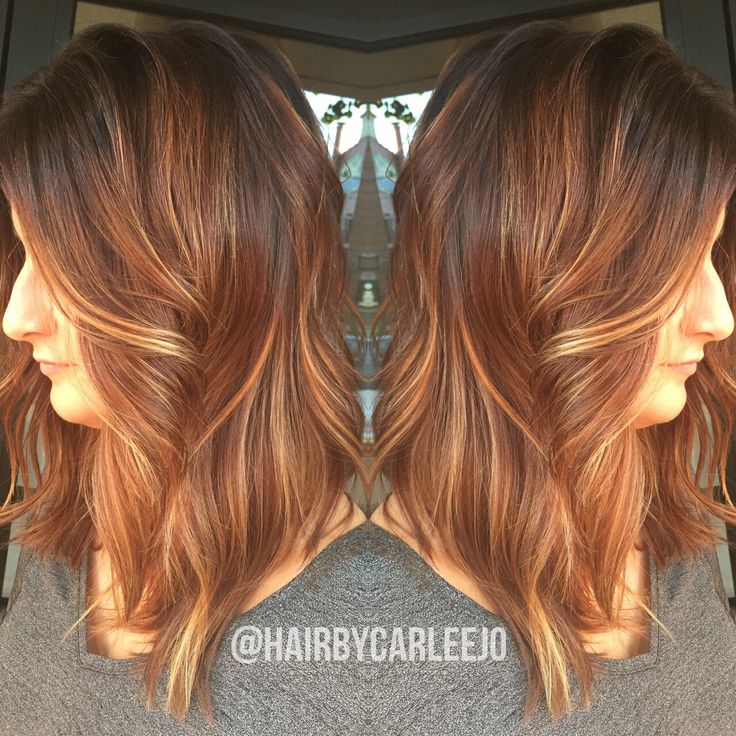 Pumpkin Spice Latte Hair Haircolor Lob Long Bob