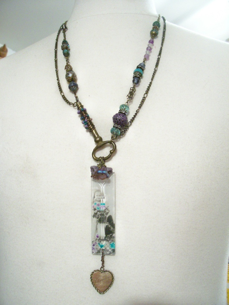 From The Garden Necklace Vintage Repurposed Jewelry