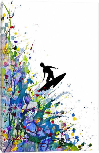 A Pollock's Point Break by Marc Allante Canvas Artwork