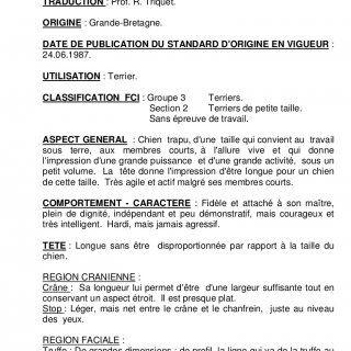 Standard F.C.I. N°73 / 001998 / F TERRIER ECOSSAIS (Scottish Terrier)TRADUCTION : Prof. R. Triquet.ORIGINE : Grande-Bretagne.DATE DE PUBLICATION DU STAN. http://slidehot.com/resources/standard-du-scottish-terrier-073.55053/