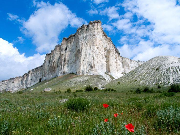 Ak-Kaya mountain in Crimea.  Гора Ак-Кая в Крыму