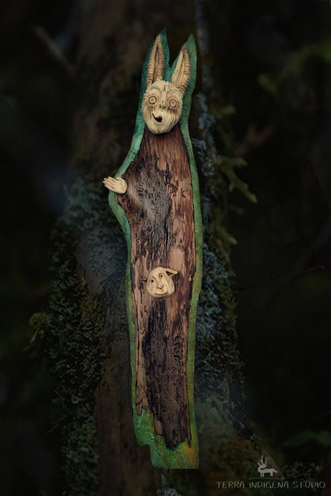 """""""The mad monk of the forest..."""" - from series: """"daiMONIon"""" - Wild Soul"""" by Terra Indigena Studio"""