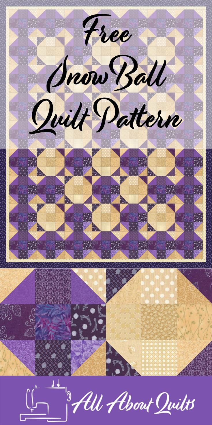 Free beginners quilt pattern that gives the illusion of circles. Each block is based on the very versatile 9-patch block. Have fun!