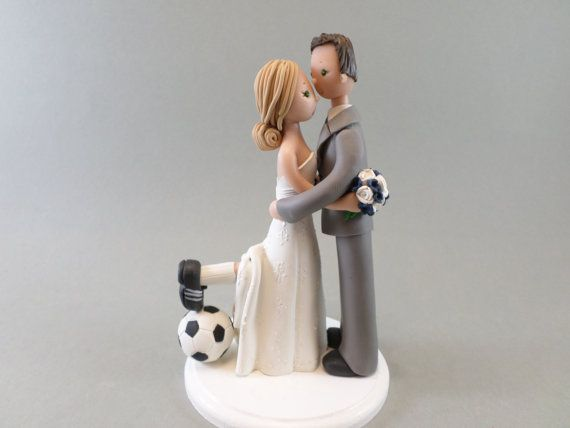Calcio su misura tema Wedding Cake Topper di mudcards su Etsy