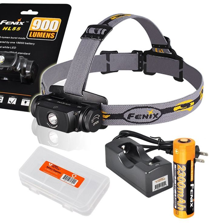 Fenix HL55 Rechargeable 900 Lumens Headlamp with Genuine Fenix Rechargeable Battery, Charger and LumenTac Battery Organizer ** Trust me, this is great! Click the image. : Camping stuff