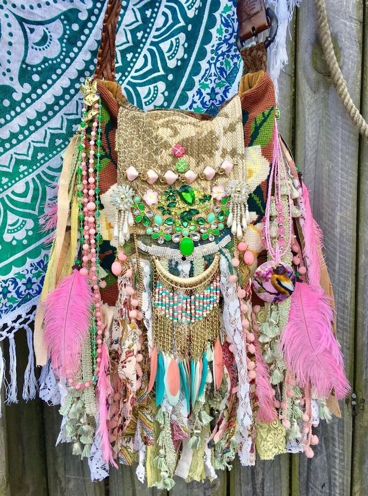 Handmade Ibiza Festival Gypsy Fringe CrossBody Bag Boho Hobo OOAK Purse B.Joy | Clothing, Shoes & Accessories, Women's Handbags & Bags, Handbags & Purses | eBay!