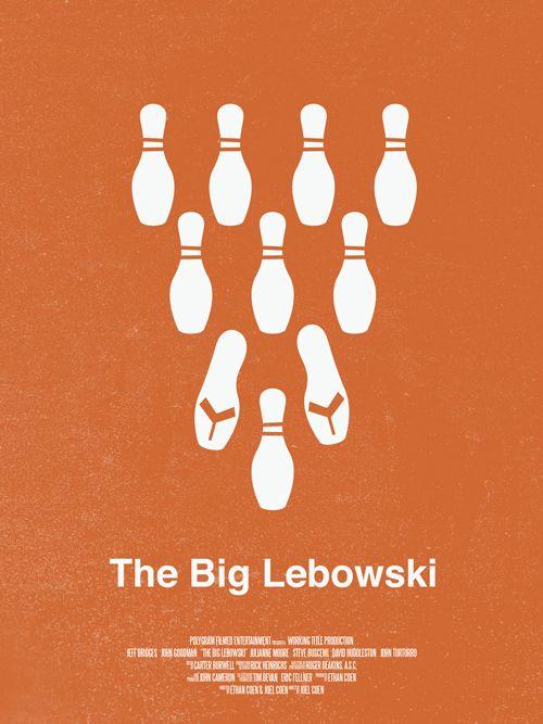 The Big Lebowski (1998) ~ Minimal Movie Poster by David Uribe #amusementphile
