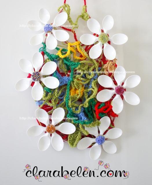 1000 images about con cucharas de plastico on pinterest - Flores de plastico ...