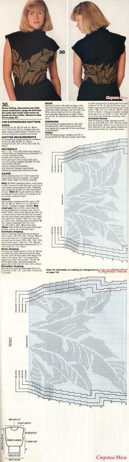 Жаккардовые модели (часть3) - Вязание - Страна Мам   вязание(жаккард,вышивка)   Постила