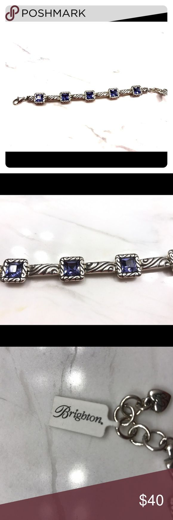 Brighton Bracelet NWT Brighton Bracelet. Amethyst color stone. Brand new. Price negotiable Brighton Jewelry Bracelets