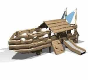 Деревянная детская Classic 9 ( 1 - 6 лет ) площадка