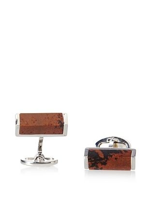 58% OFF Jan Leslie Mahogany Slice Sterling Silver Cufflinks