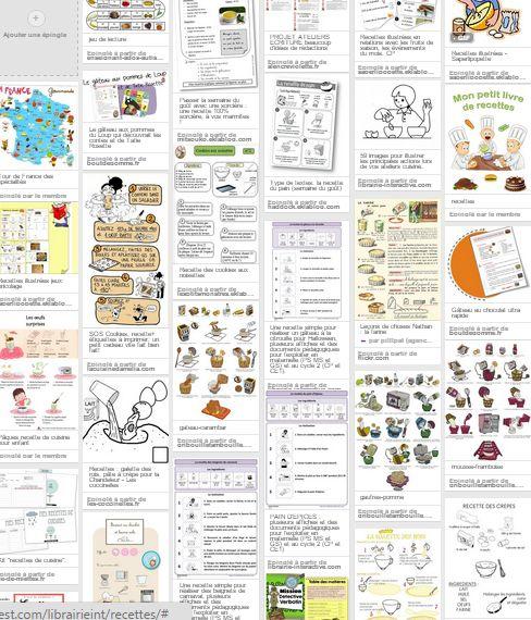 Plusieurs dizaines de ressources pour travailler sur la recette et se régaler avec les enfants !
