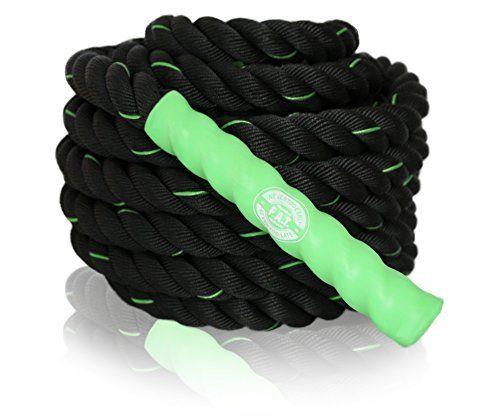 Battle Ropes Cardio Exercise Training  40 feet x 15 inch  Green >>> AMAZON Great Sale