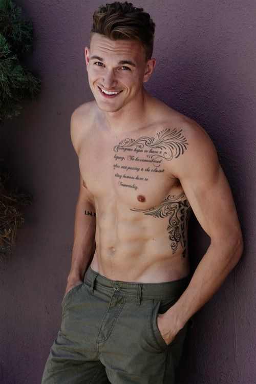 754 best images about yummy hot guys on pinterest for Men side tattoo