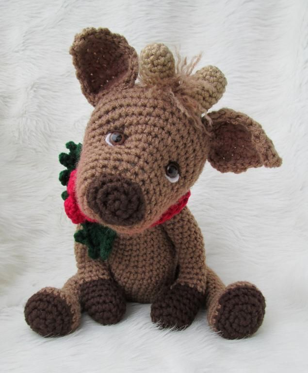 Simply Cute Reindeer & you could make it into a Rudolf with a red nose!