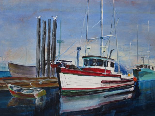 Tofino Harbour, acrylic by Bob McQueen