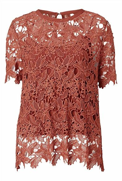 Summer Lace Tee | Tops-Witchery