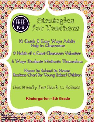 FREE Strategies for Teachers from Strategies for Teachers & Volunteers on TeachersNotebook.com - (9 pages) - Strategies for Educating America is a pack of four handouts for adults working with teachers in grades K-8.