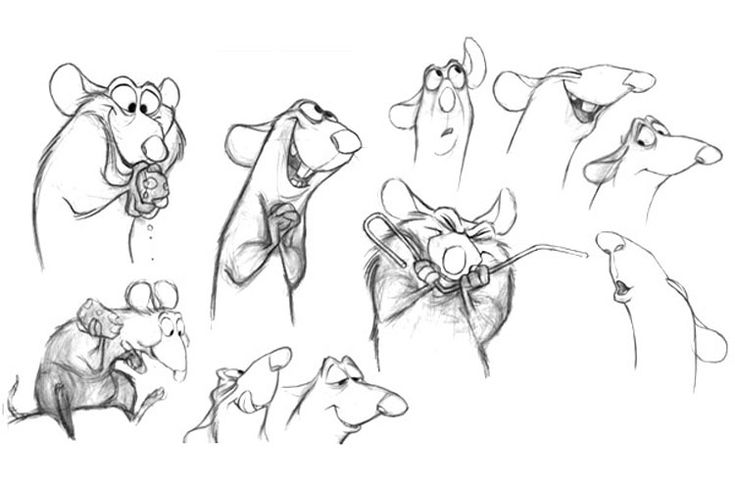 Ratatouille (2007) - I CHARACTER DESIGN REFERENCES   Find more at…